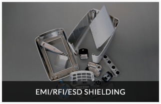 Precision EMI shielding, RFI shielding, ESD shielding and coating services