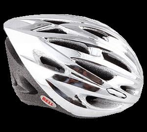 Chromed plated Bell bike helmet